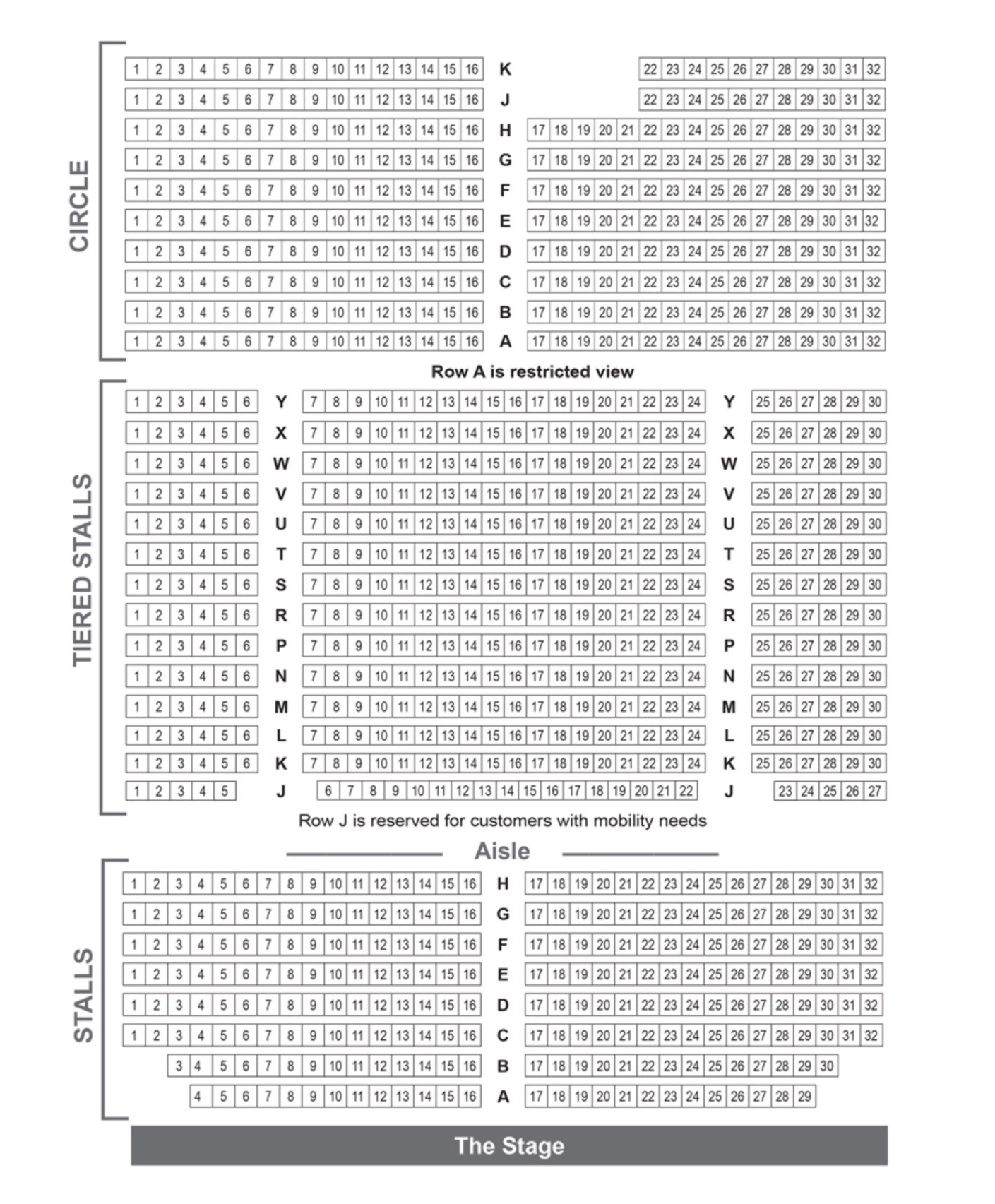 Assembly Hall seating plan